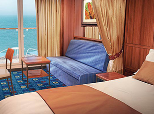 Mid-Ship Mini Suite with Balcony